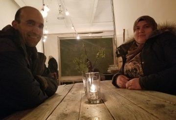 عشاء سوري في معمل بيرة Folksbier Brauerei