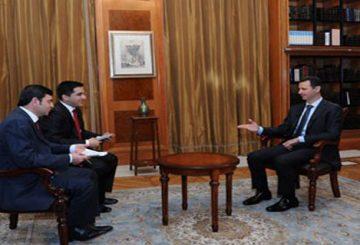 رسالة للرئيس بشار الأسد