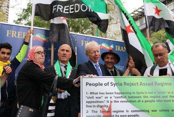 رالي المعارضة السورية والايرانية ٢٠١٧