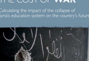 مترجم: تكاليف الحرب، دراسة لتبعات انهيار النظام التعليمي في سوريا على مستقبل الدولة